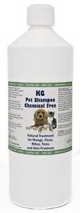 KG Wash & Go Pet Shampoo 1000ml Treats Mange, Fleas, Ticks, Mites & Itchy Skin