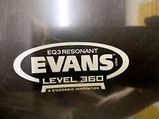 "More details for evans level 360 eq3 front resonant bass drum head skin 22"" - black"