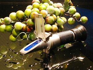 Winzer-Refraktometer 30-140° Öchsle ATC, 0-32% Brix, kein billiges Leichtgewicht