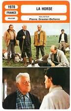 FICHE CINEMA : LA HORSE - Gabin,Ajoret,Granier-Deferre 1970