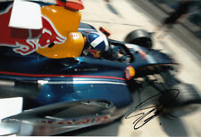 David Coulthard mano firmato RED BULL RACING FOTO 12X8 9.