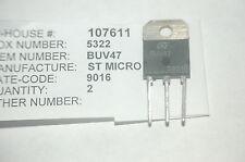 ST MICRO BUV47 Silicon Power NPN Transistor 3-Pin New Lot Quantity-2