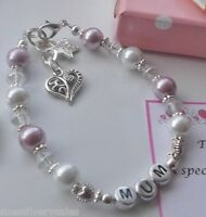Thank you gift teacher, child minder teaching assistant personalised bracelet
