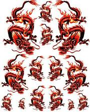 Rockabilly Tattoo Art Guitar Dragon Waterslide Decal 5   #49