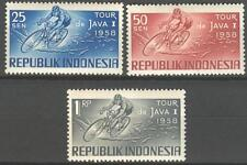 INDONESIA 1958 ZBL 228-30 CYCLING WIELRENNEN   MNH