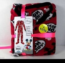 "Disney Mickey Mouse Footed Pajamas ""Oh Boy"" Footie One Piece L NWT Classic Gift"