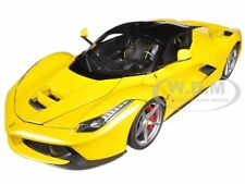 FERRARI LAFERRARI F70 HYBRID ELITE YELLOW 1/18 DIECAST MODEL CAR HOTWHEELS BCT81