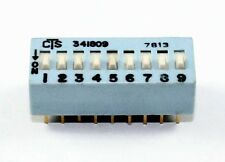 9 Pin Slide/DIP Switch SPST - Lot of 3     ( DS9A )