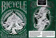 1 Deck Bicycle Dragon Green & White Standard Poker Playing Cards Brand New Deck