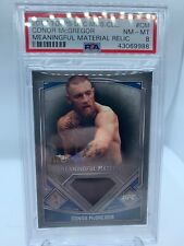 2017 Topps Ufc Museum Collection Conor Mcgregor Patch /75 Psa 8