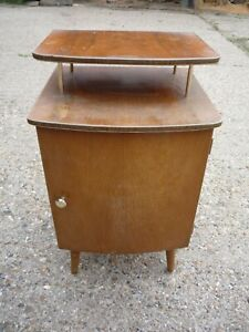 """Vintage / Retro Wooden bedside table for refurb > 15"""" L x 25"""" H x 14"""" W"""