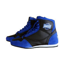 TechMaxxe v1.0 Mid Top Boxing Shoes Half Height Boots - Blue / Black