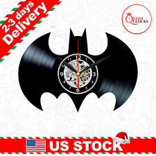 Batman Logo Vinyl Clock Superhero Wall Decor Symbol Nursery Christmas Gifts Kids