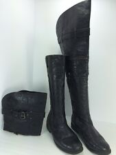 Bucco Women's Size 10 Black Convertible Pirate Over The Knee High Boots Unzip