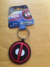 "Marvel Soft Touch PVC Key Ring: ""Deadpool Logo"""