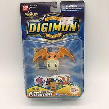 "Bandai Digimon Digivolving Action Feature Figure NIB 3"" Patamon 3961 BONUS"