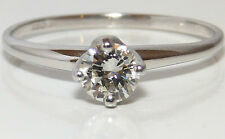 FINE 9CT WHITE GOLD 0.47CT  DIAMOND  SINGLE STONE ENGAGEMENT RING SIZE S