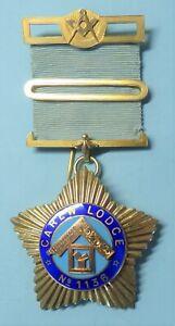 Masonic Silver Past Master Jewel Carew Lodge No 1136 1940