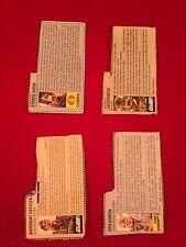 Vintage GI Joe File Card lot 8 cards Flint Leatherneck Dreadnock Strato Viper