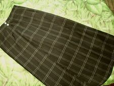 TALBOTS NEW Skirt Wrap Around Black Checked Linen & Rayon Women 8
