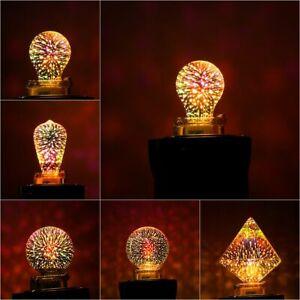 connecteur de baiser feux d'artifice ampoule 3d verre edison partie de lampe