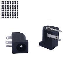 100 pcs 5.5 x 2.1mm DC Power Supply Female 3 pin PCB Mount Jack Socket Connector