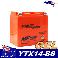 YTX14-BS 12V 14AH GEL BATTERY HONDA ATV QUAD BIKE TRX 300/350/400/420/450/650