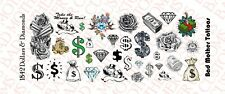 1/18 Scale Waterslide Decal Tattoos for Action Figure: Dollars and Diamonds
