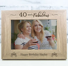 Personalised Engraved Wooden 40th Birthday Photo Frame Birthday Gift