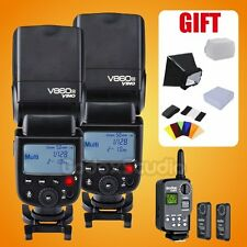 2PCS Godox V860 V860C E-TTL Speedlite Flash + FT-16S Flash Trigger Set for Canon
