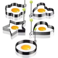 5PCS Stainless Steel Egg Mold Pancake Mould Ring Fried Cooking Shaper Kitchen