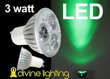 6 Qty. PAR16 GU 10 LED Tree Green 3 x 1 watt GU10 PAR160
