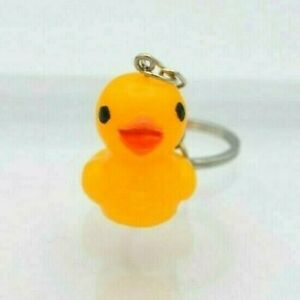 Cute Small Yellow Plastic Duck Keyring