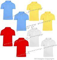 2 Pack Girls Plain 100% Cotton Polo Shirts Children School T-Shirt Uniform