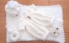 Mimsy*Newborn*Reborn*Beautiful Baby Boy Layette*Dolls Hand Knitted Clothes Set*