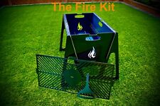 Flat pack BBQ grill, Flat Pack Fire Pit garden camping barbecue charcoal Unique