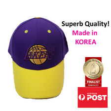 LA Los Angeles Lakers Logo Hat Adjustable Cap MADE IN KOREA