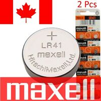2 Pcs Maxell LR41 Battery 192 / AG3 / V3GA 1.5v Alkaline Watch Cell Batteries