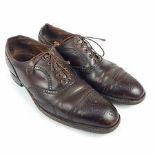 Florsheim Imperial Mens Size 10.5 C Brown Leather Cap Toe Oxford Dress Shoes