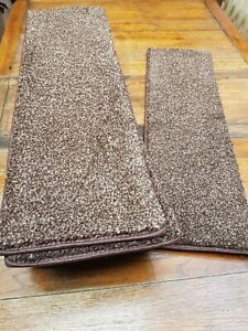 8.5	x	27	inches	(	22	x	68	cm) 12x STAIR PADS /TREADS BEIGE FLECK THICK PILE #346