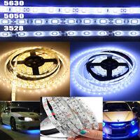 5M SMD 300Leds 3528 5050 5630 SMD White LED Flexible Strip Light  Adapter 12V DC