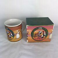 Disney 1996 Christmas Collection Magic Kingdom Brer Bear Brer Fox Holiday Mug