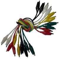 10pcs coloured Alligator/Crocodile Test Leads/Clamps Jumper Cable Wire