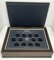 White House Historical Association Presidential Medals Wood Collectors Box