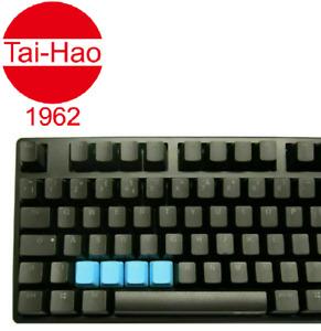 Tai-Hao TPR Rubber Blank 4 Keys Neon Blue
