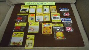 Vintage New/Old Stock Lot of 18 Asst Outdoor/Toys & Games Dollhouse Miniatures