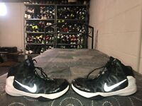 Nike Zoom Without A Doubt Mens Athletic Basketball Shoes Size 8 Black Gray White