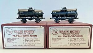 Train Hobby HO Brass Victorian Railways  4-Wheel Oil/Fuel Tankers