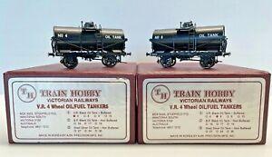 Train Hobby HO Brass Victorian Railways  4-Wheel Oil/Fuel Tankers