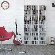 CD rack archivage 1080 CD, 504 DVD média d'archivage salle Regal diviseur blanc